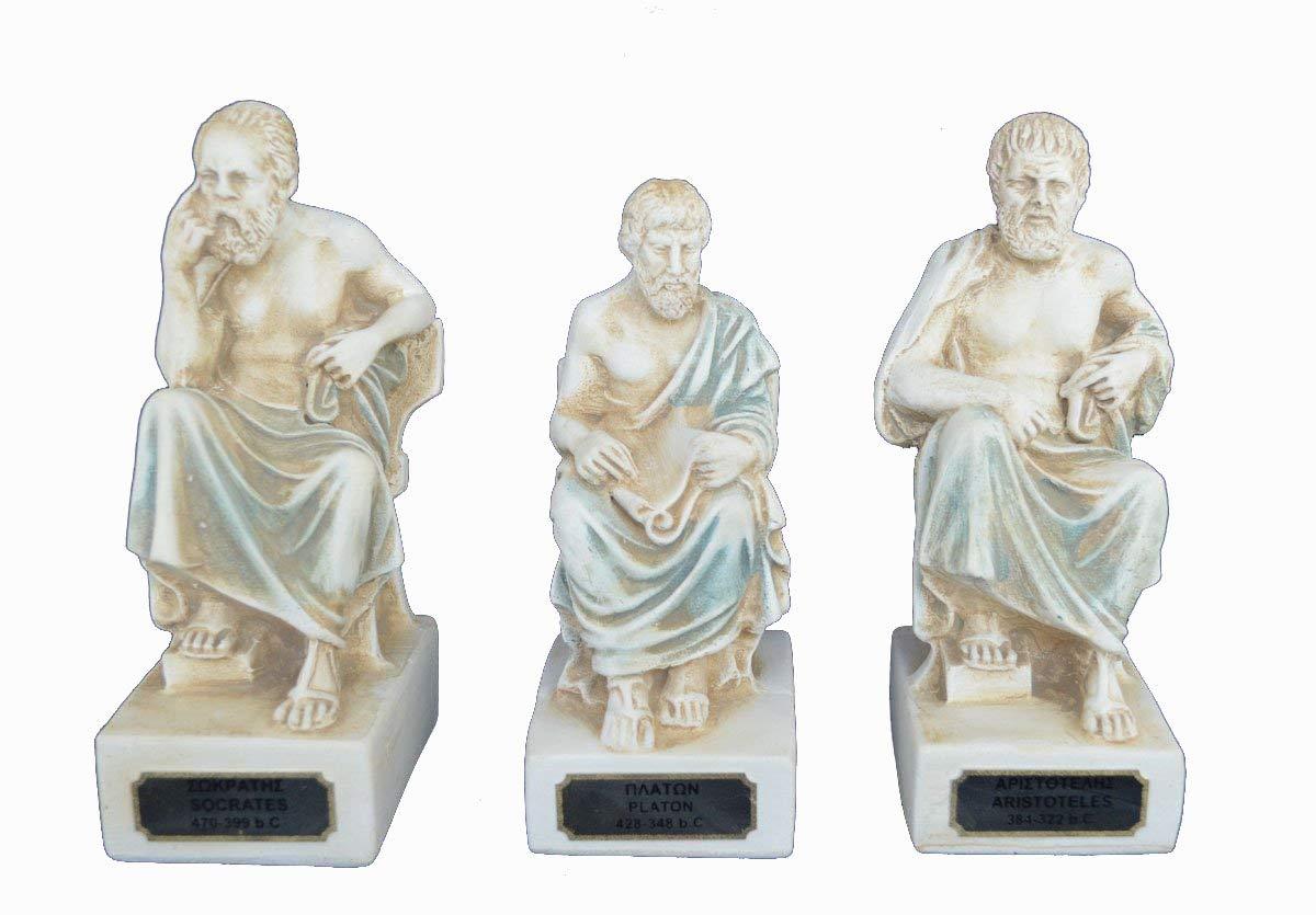 Estia Creations Sokrates Aristoteles Plato Skulptur Set Artefakte