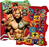 wwe coloring - WWE World Wrestling Shaped Coloring Book with Stickers