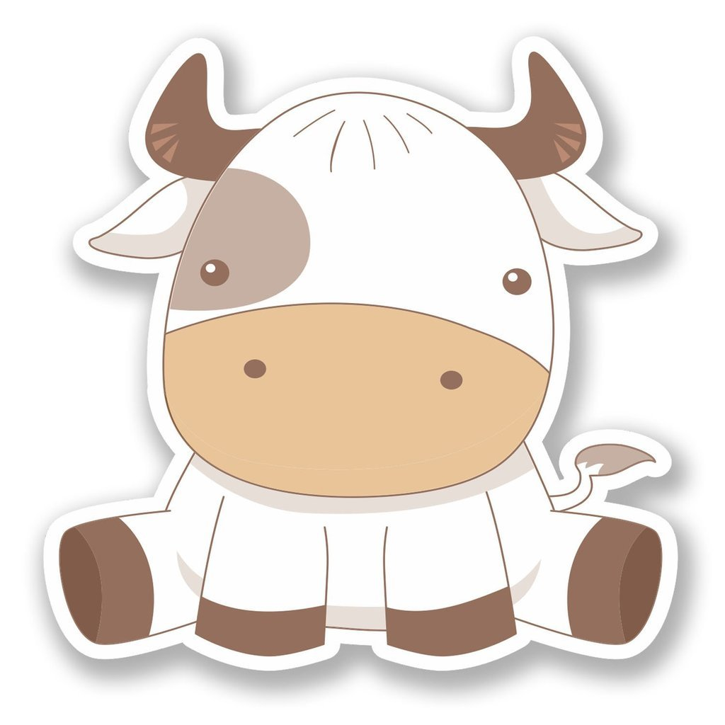 Etiqueta autoadhesiva de vinilo vaca