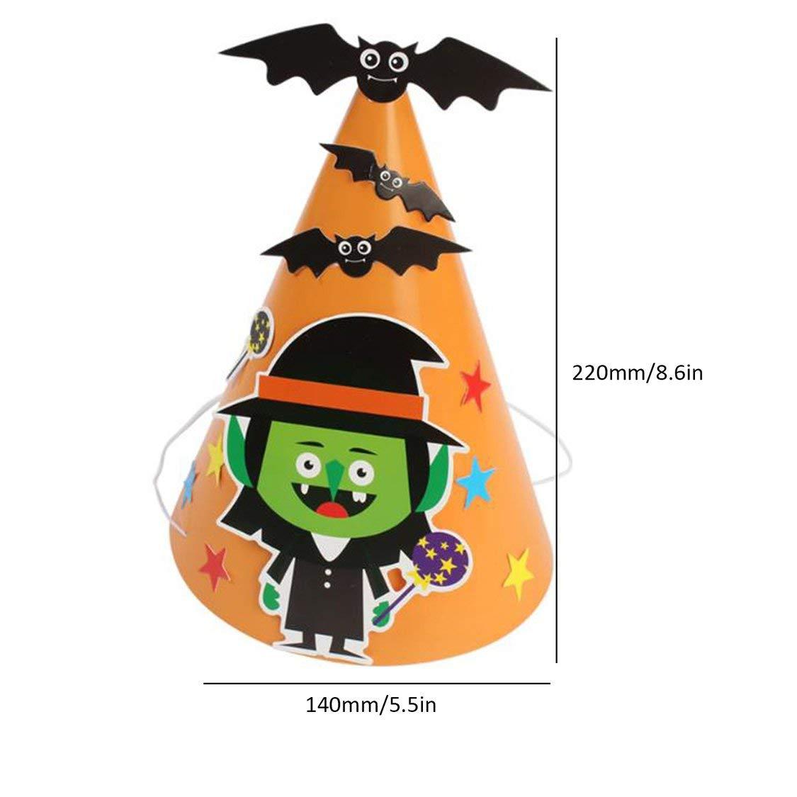 FancysweetyFR Chapeau Halloween Enfants Coiffure Bricolage Papier Cartoon Hat Party Decoration Fournitures Props de f/ête Cadeau pour Les Enfants
