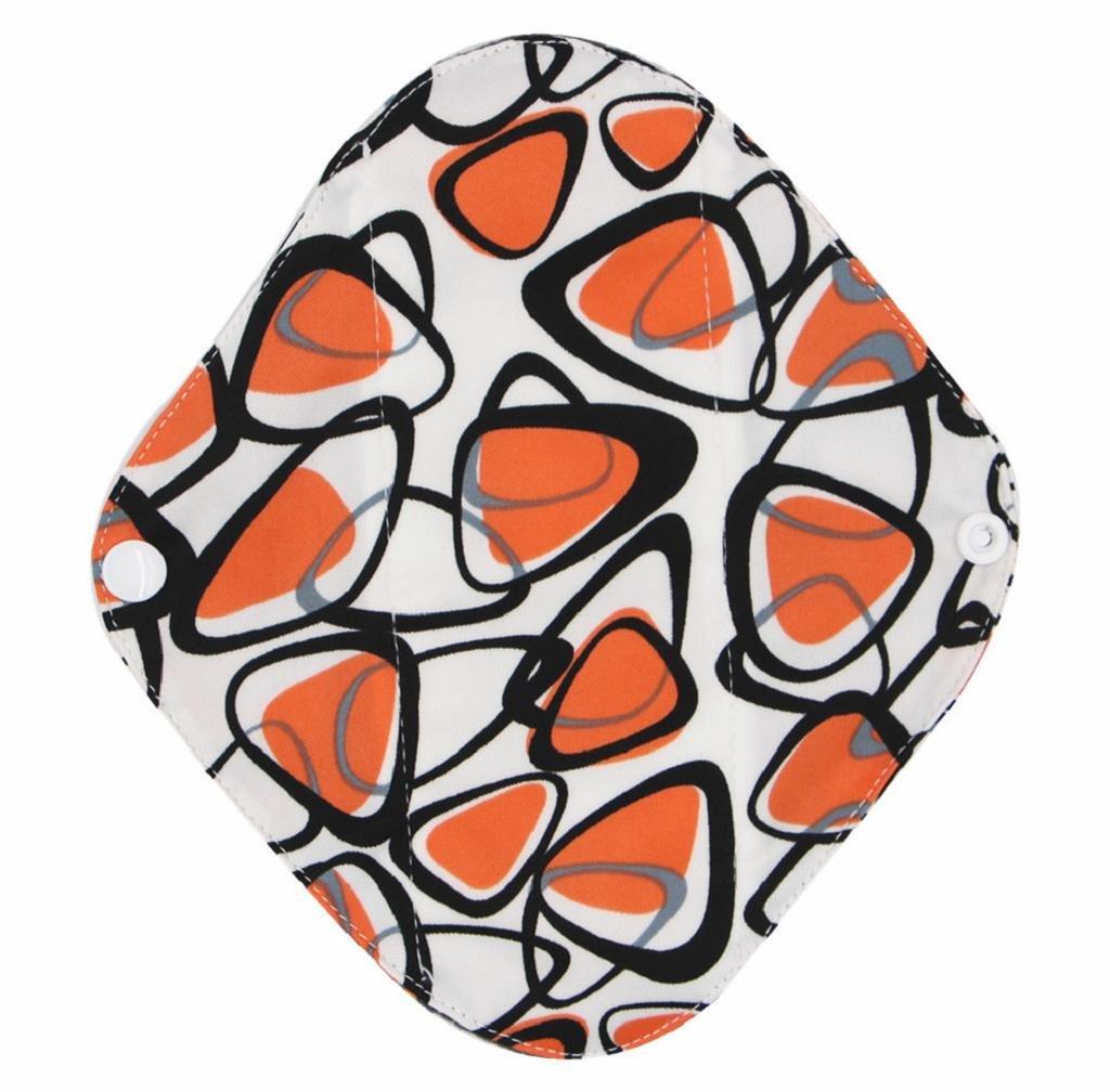 Covermason Portable Washable Menstrual Pad Reusable Bamboo Cloth Mama Sanitary Towel Pad Panty Liner (L, Sky Blue)