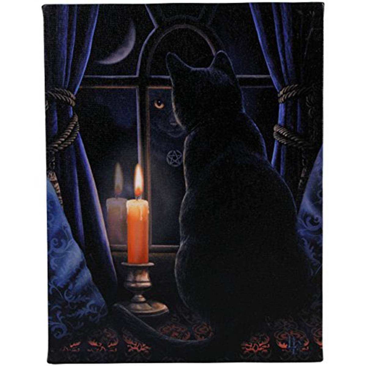"""Wish Upon a Star Plaque by Lisa Parker 10/"""" x 7/"""" Cat"""