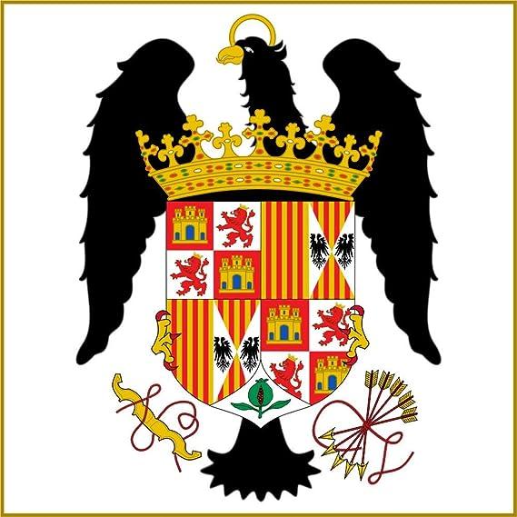 magFlags Bandera Large Pabellón Real de los Reyes Católicos 1492-1504 | 1.35m² | 120x120cm: Amazon.es: Jardín
