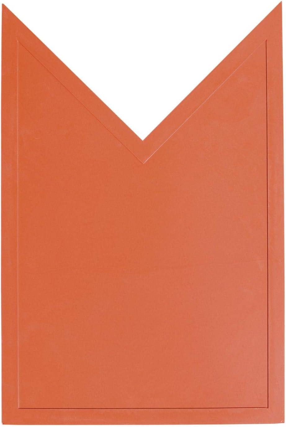 Schutt Strike Zone Mat Home Plate Extension for Baseball/Softball Training, Orange, 16.5