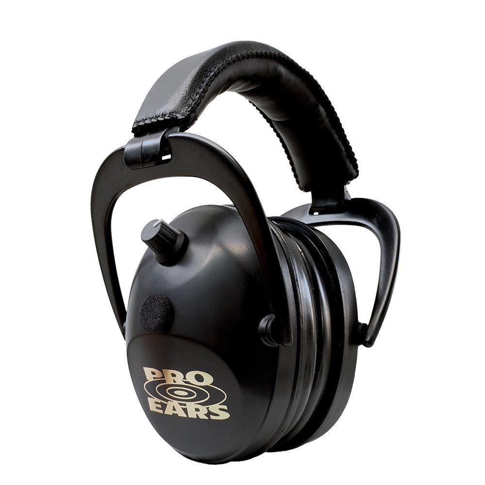 Pro Ears Gold II 26 - PEG2SMB - Electronic Hearing Protection & Amplification - Shooting Earmuff - NRR 26 - Electronic Hearing Protector Ear Muffs, Black