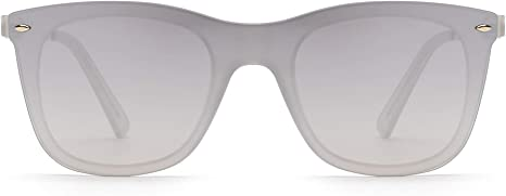 Sin Montura Espejo Gafas de Sol Una Pieza Sin Marco Anteojos Hombre Mujer