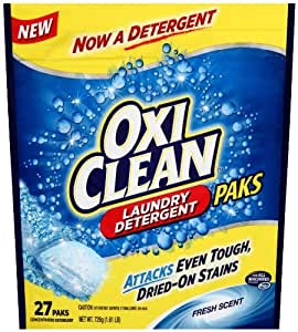 Amazon Com Oxiclean Hd Laundry Detergent Paks Sparkling