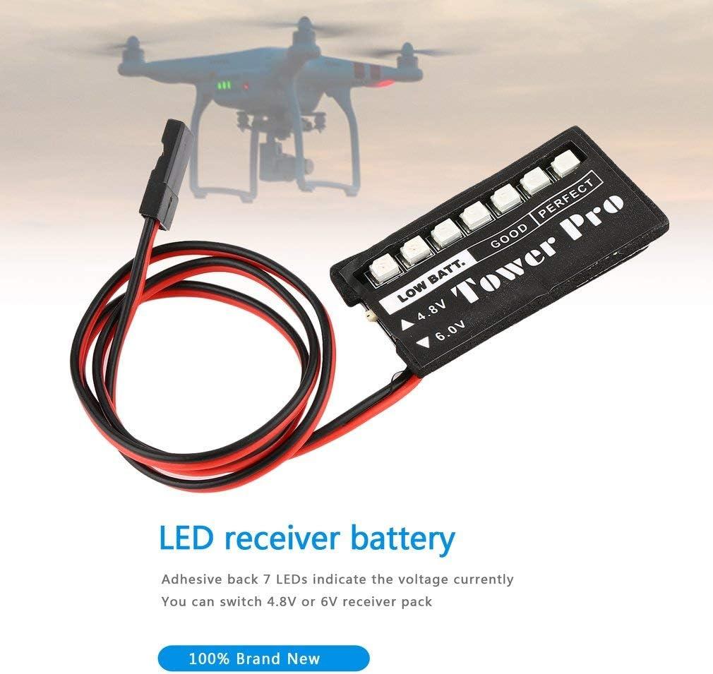 RC Model 7 LED Receiver Battery Voltage Indicator Monitor Car auto 7led 4.8v 6v Low voltage Monitor Indicator