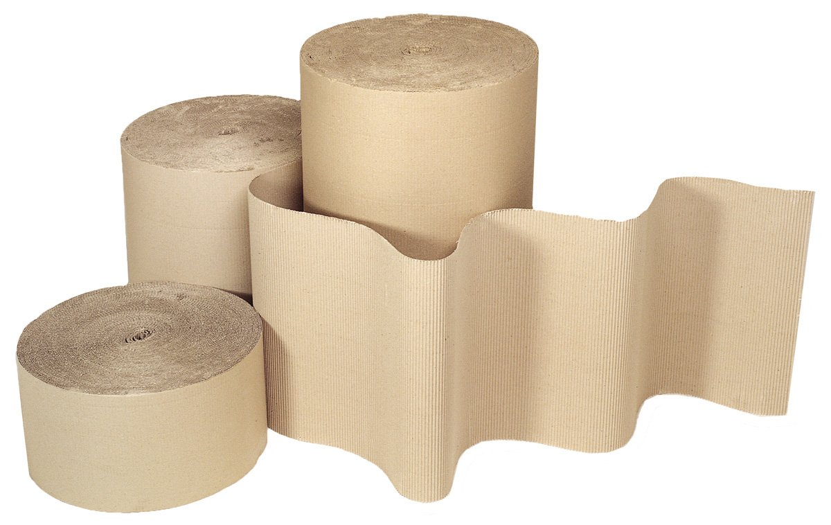 Single Faced 300mm x 75m 100/% recycled Corrugated Paper Rolls