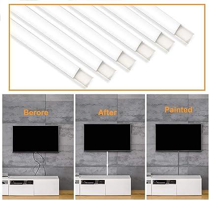 Kit de cobertor de Cable para Ocultar Cables en la Pared, Sistema de gestión de Cables para Ocultar Cables, Cables o Cables, Ideal para Cualquier Organizador de Cables de habitación, se Puede