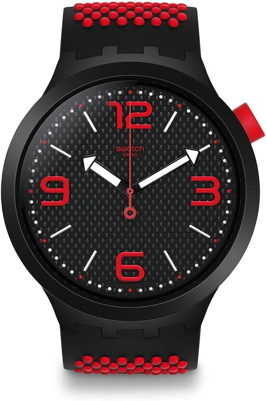 Swatch Reloj Analógico para Hombre de Cuarzo con Correa en Silicona SO27B102