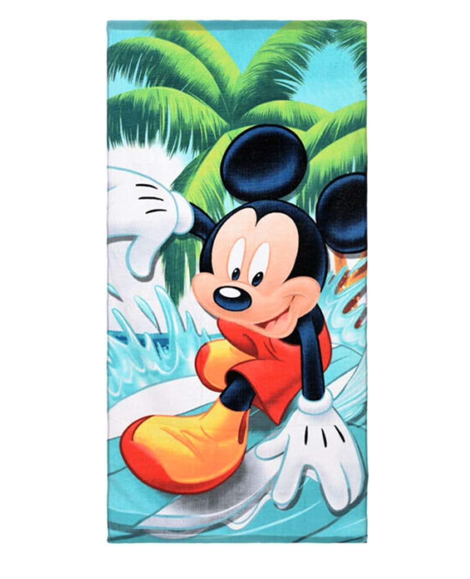 Asciugamano per Bambini Asciugamano da Doccia Cotone 70 x 140 cm Mickey Mouse Mickey Disney Grande Regalo per Ragazze e Ragazzi Theonoi