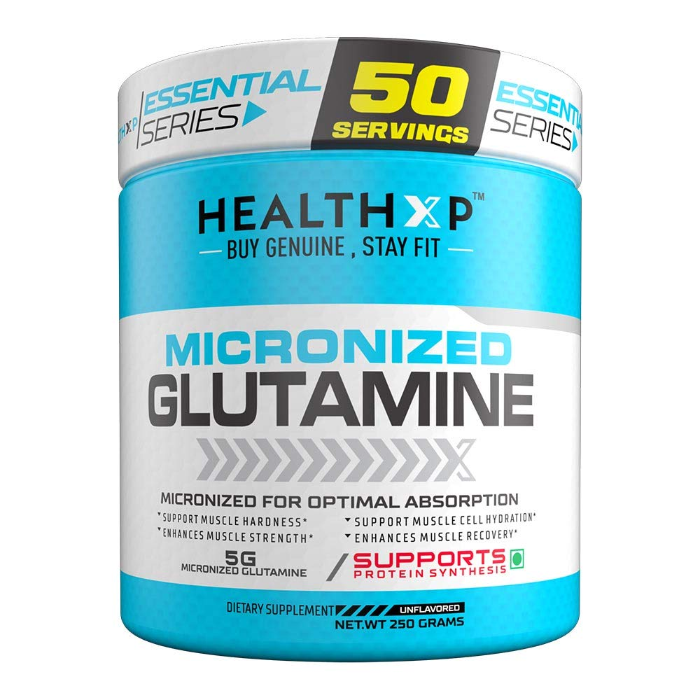 HealthXP Micronized Glutamine 250 Gms Unflavoured/50 Servings (B07PTR63KC) Amazon Price History, Amazon Price Tracker