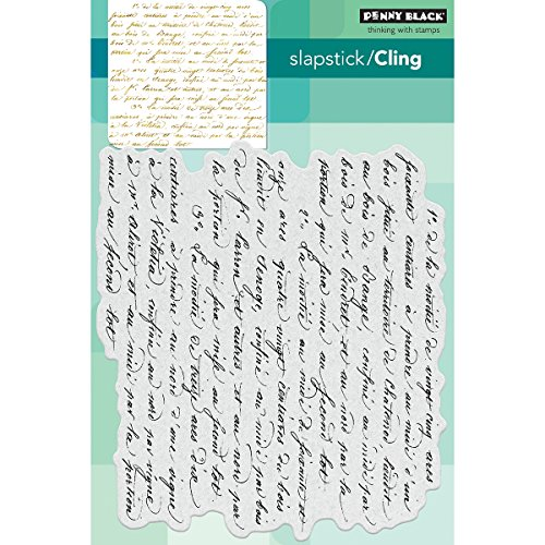 (Penny Black Script Cling Unmounted Rubber Stamp (40-470))