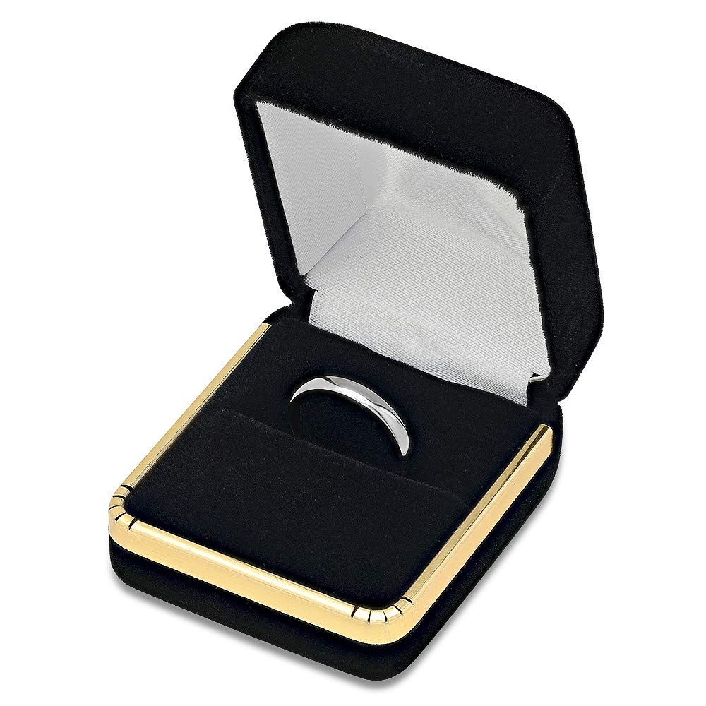 Clara Pucci 14K Yellow Gold mens and womens plain wedding bands 5mm comfort-fit light Double Accent Size 3.5 to 10.5