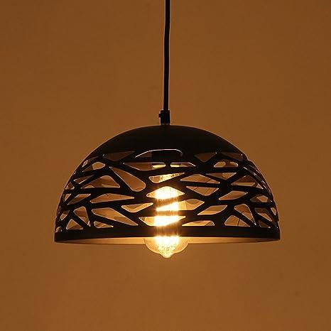 frideko vitnage Industrial malla de acero hueca lámpara de ...