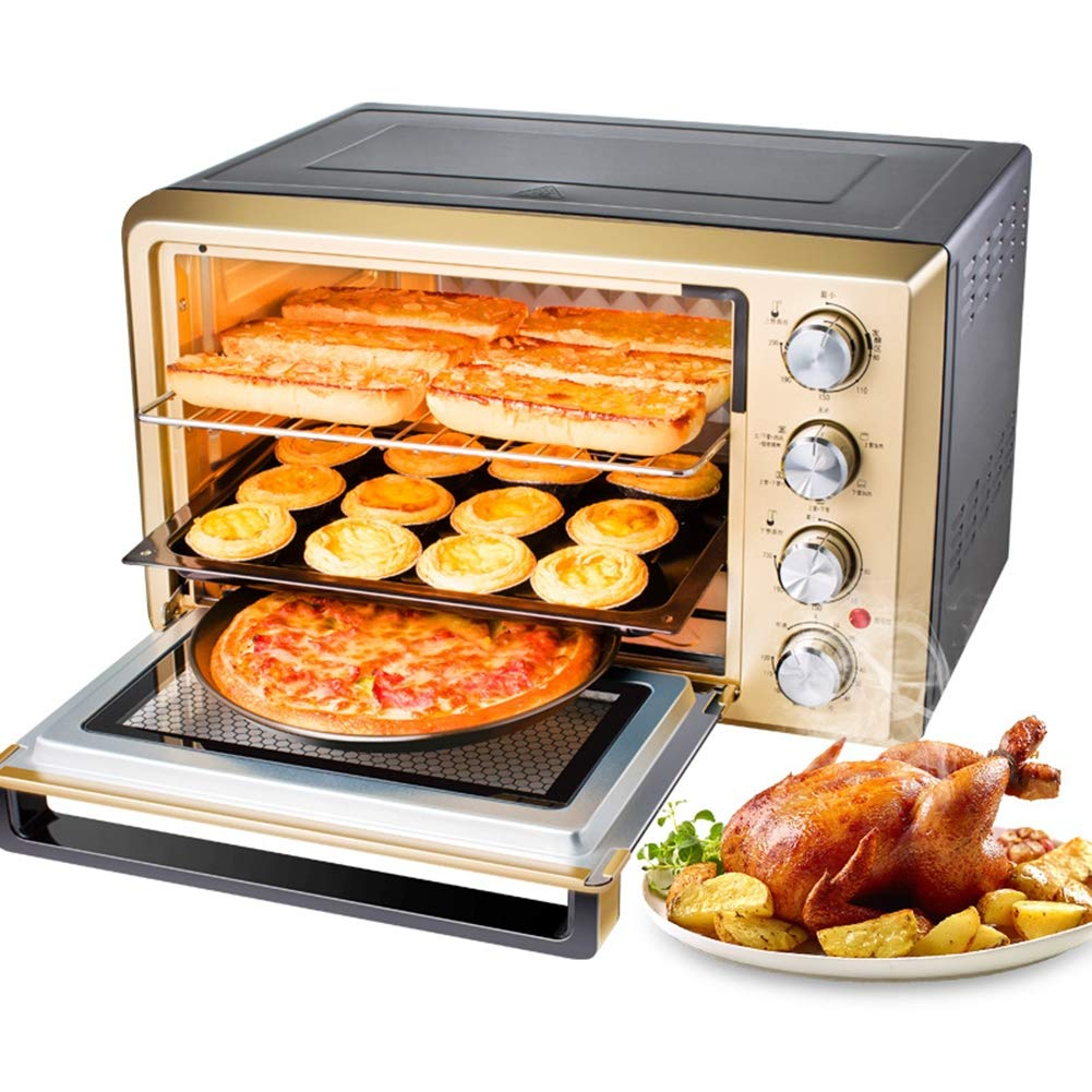 Toaster Oven, multi-function stainless steel with timer - toast - baking - barbecue setting, 2000 watts power, including oven and shelf / 38L