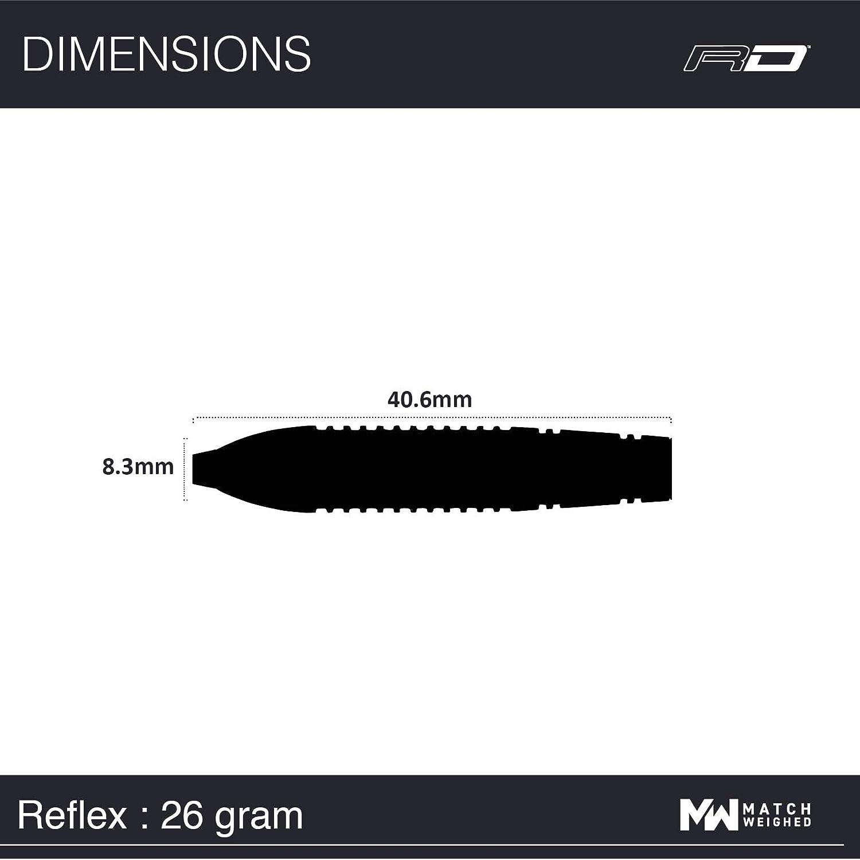 Steel Dartpfeile Red Dragon Reflex Tungsten Darts mit Flights und Sch/äfte