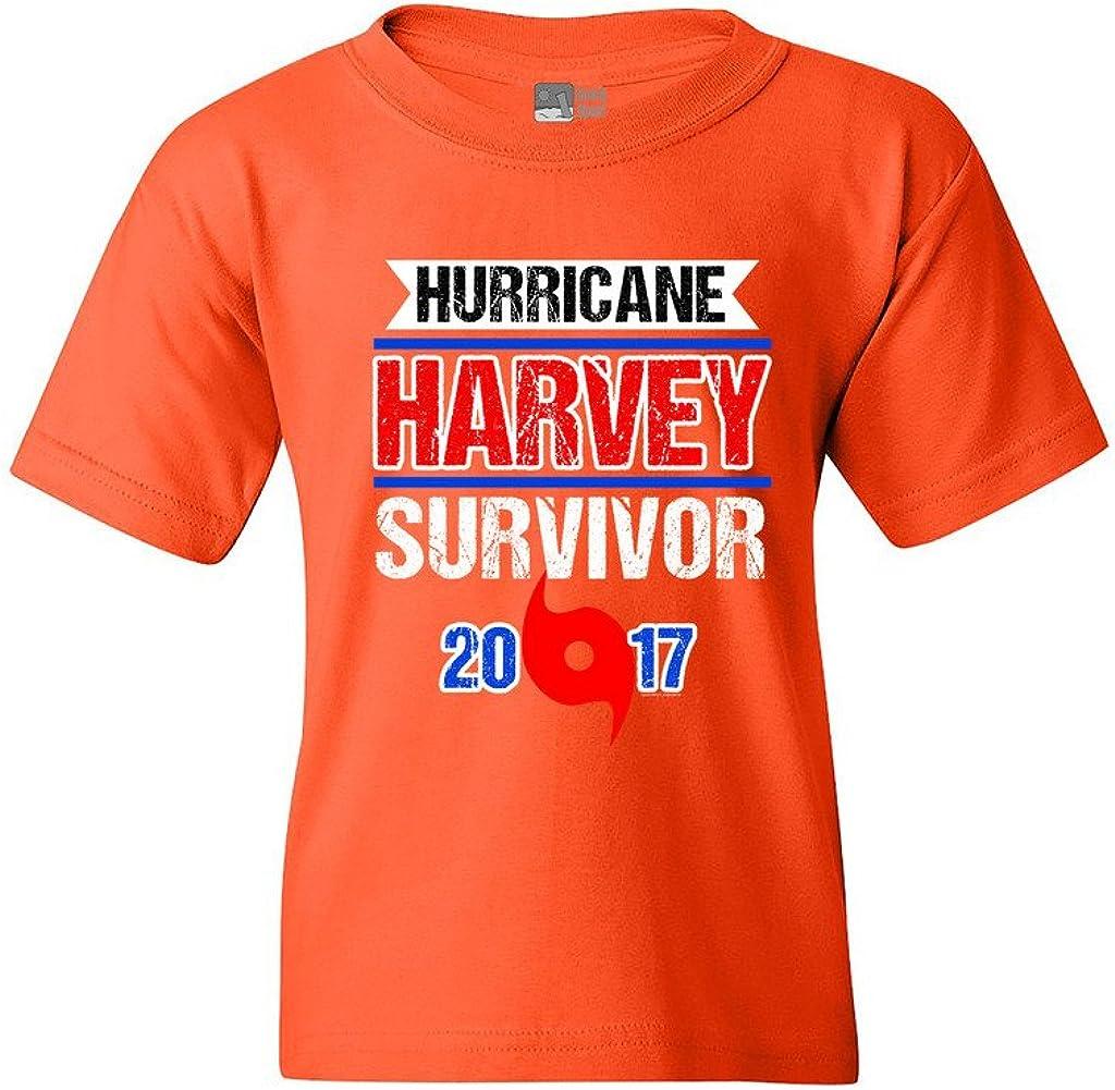 Hurricane Harvey Survivor Cyclone Symbol 2017 Houston Texas DT Youth Kids T-Shirt Tee