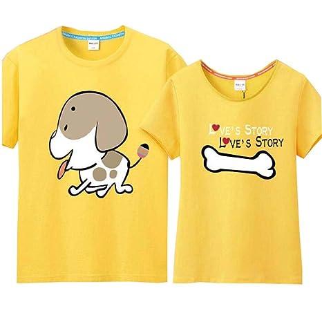 Camiseta Lovely perro y hueso amor par de impresión de la ...
