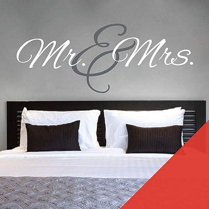 Wall Designer Mr & Mrs Monogram, Adesivo da Parete per ...
