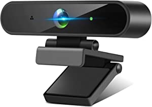 Webcam with Microphone, 1080P HD Webcam with Low Light Correction, Built in Dual Noise Reduction Microphone/Wide View Angel/Plug & Play USBfor Desktop Laptop Video Conferencing Computer Camera