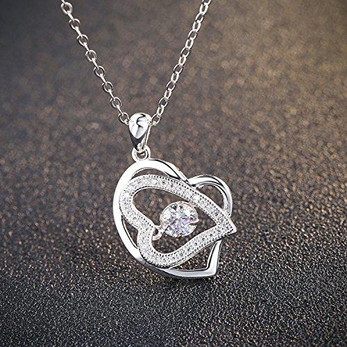 MMC Womens Necklaces Pendants CValentinesr Flower Choker Silver Jewelry