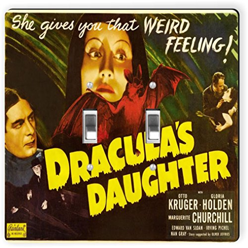 Rikki Knight 3707 Double Toggle Vintage Movie Posters Art Dracula's Daughter Design Light Switch Plate by Rikki Knight