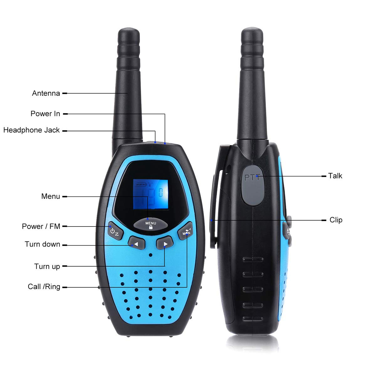 Fistone Walkie Talkies for Kids, 3 Packs 22 Channels 2 Way Radio Long Range Interphone Toys for Boy & Girls Age 3 6 7 8 9 12 Up for Outdoor Adventures, Camping, Hiking by Fistone (Image #2)