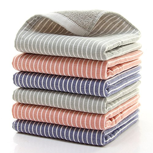 HONEYJOY 100% Cotton Ultra Soft 6 Pack Towels Multipurpose U