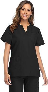 CRETUAO Women Scrubs Tops Greys Anatomy Medicinae Uniformis V Neck Nursing T-Shirt Plus Size Medical Uniform Workwear