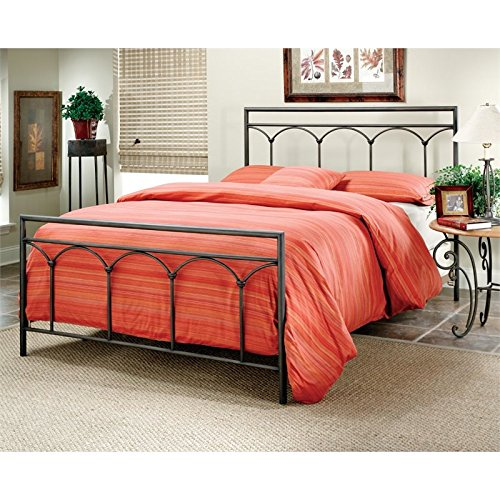Hillsdale Furniture 1092BQ McKenzie Bed Set, Queen, Brown Steel