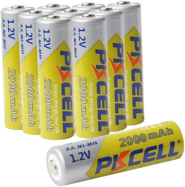 NIMH 2000mAh 1.2V AA Rechargeable Battery for Solar Path Garden Lights10pcs