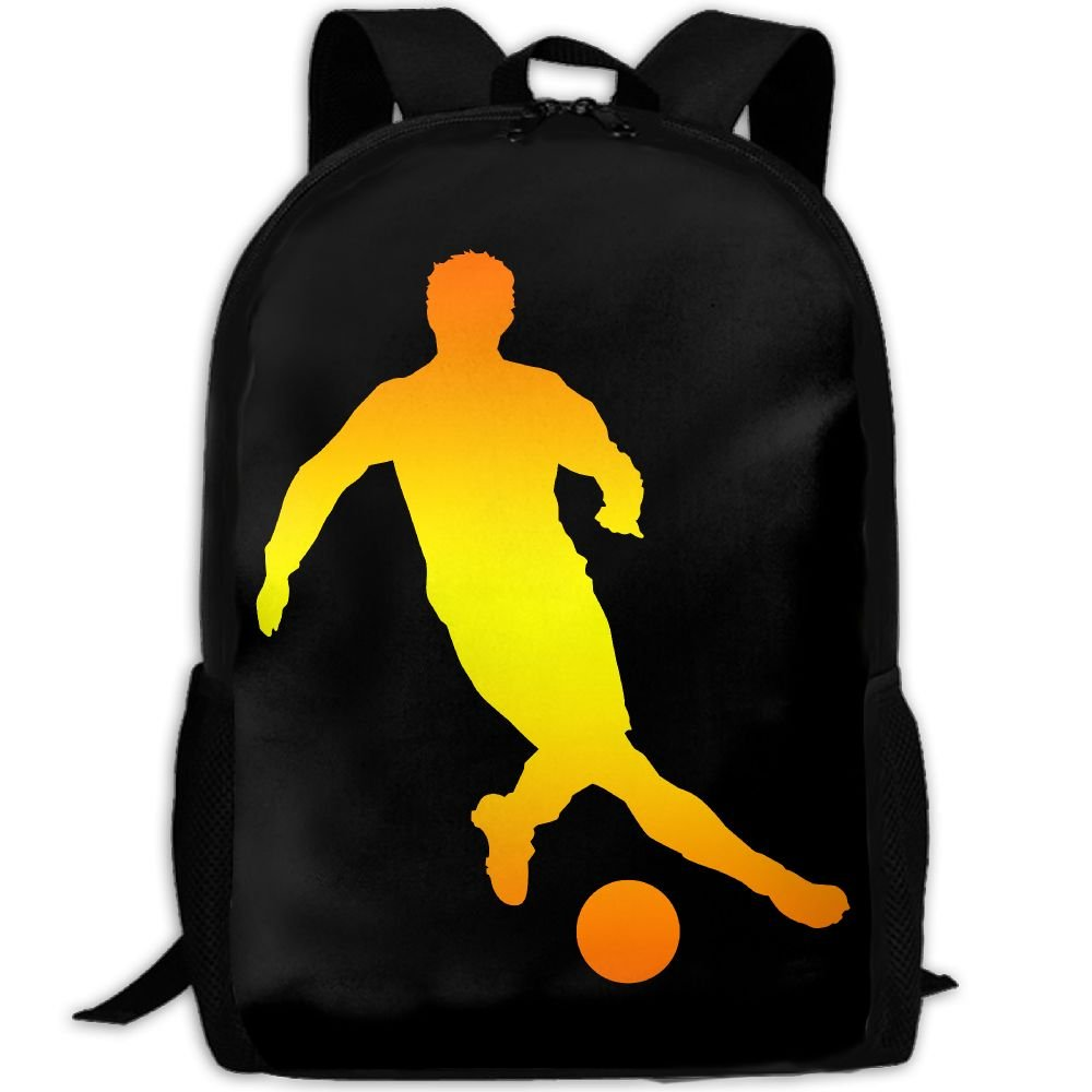 Football Player Gold Double Shoulder Backpacks For Adults Traveling Bags Full Print Fashion by THIS STORE