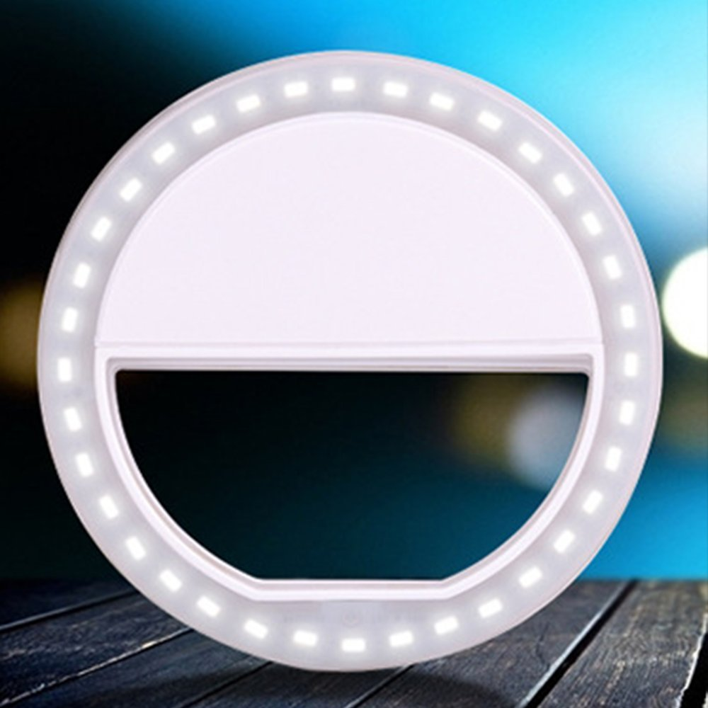 WANCHUANG Selfie Light Ring 36 LED 5 Black 6s 4s 4; Samsung Batteries Included -Compatible for iPhone 6 Plus Motorola; Clips on All Smartphones 5s Sony