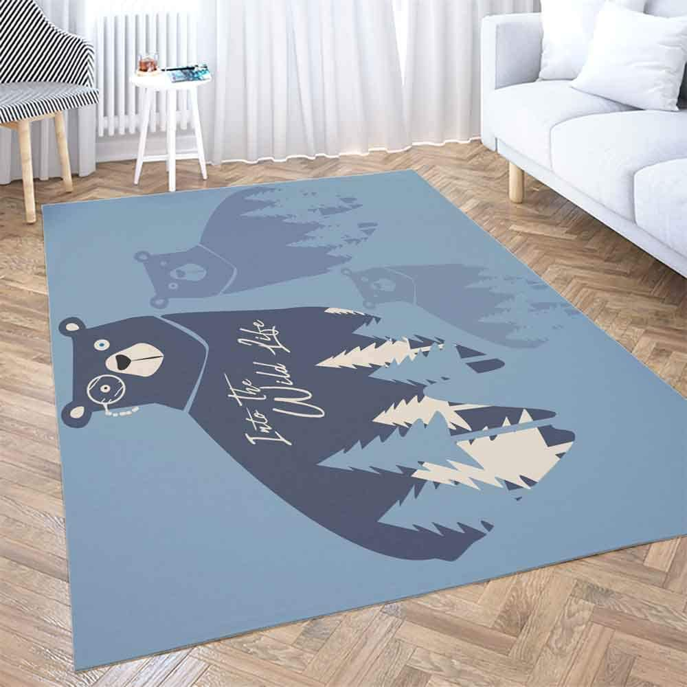 Amazon Com Area Rug Pad Dethel 3x5 Soft Area Rug Modern Cute Bear In Graphic Kids Fashion Design Wild Life Typography Tshirt Space Solid Area Rug For Living Room Area Rug For Kids