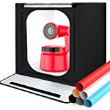 Photo Light Box, SAMTIAN Portable 16x16x16 Inches Photography Studio Light Box Shooting Tent Tabletop Photography…