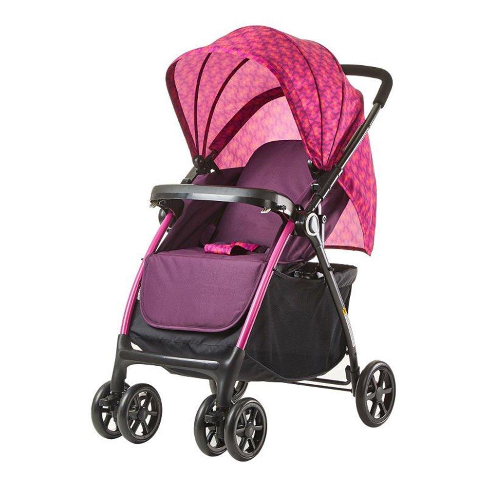 LVZAIXI プッシュチェアハイランドスケープベビーベビーカー/座ったり、折り畳まれた赤ちゃんを寝かせたりすることができます多機能2ウェイ四輪トロリーベビープッシュ ( 色 : パープル ぱ゜ぷる ) B07C787FKN パープル ぱ゜ぷる パープル ぱ゜ぷる