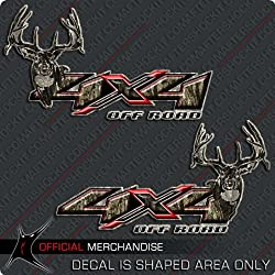 4x4 Deer Hunting Camo Decal Silverado Archery Truck Sticker