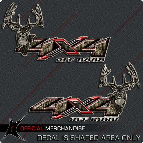 4x4 Deer Hunting Camo Decal Silverado Archery Truck Sticker (Truck Camo Decals)