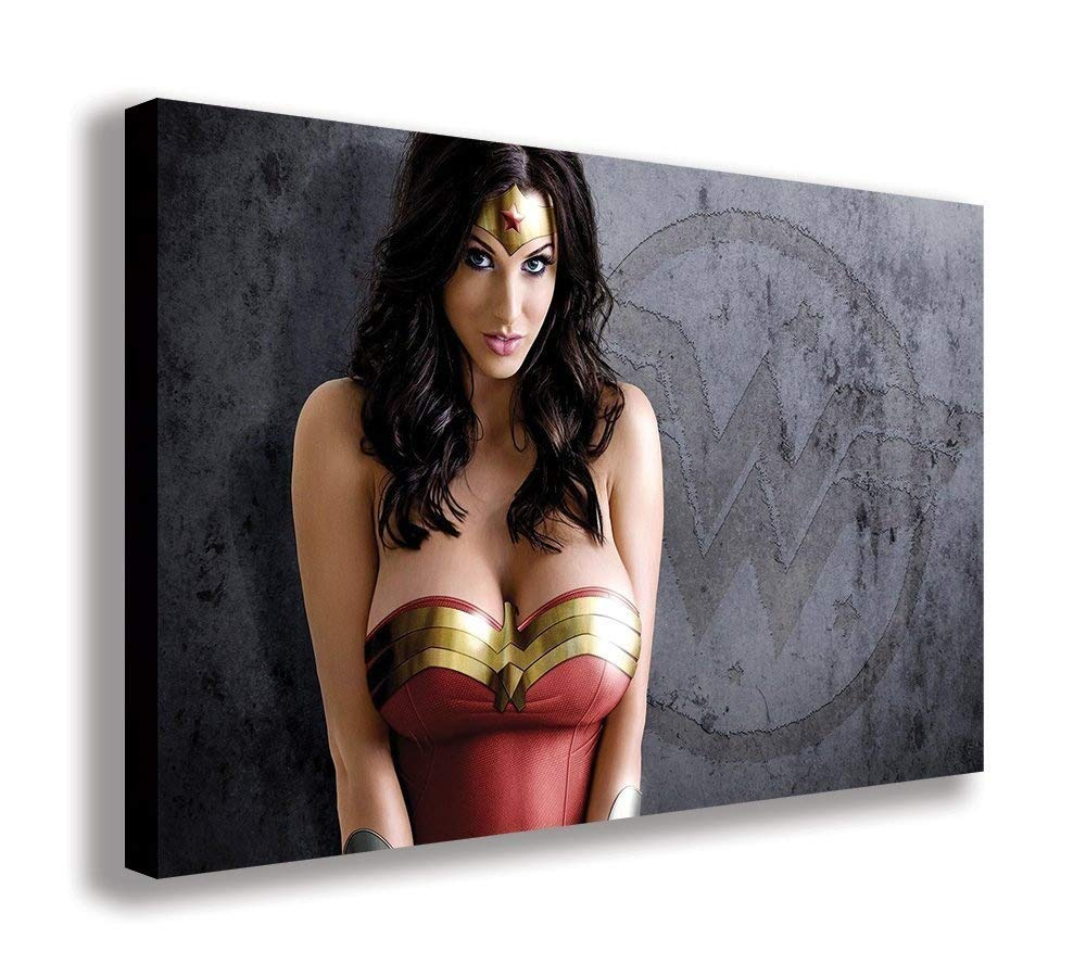 Sexy Wonder Woman auf Leinwand, (111,8 x 66 cm 110 x 65 cm) B074PC118C | Attraktive Mode