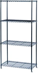 """Safco Products Commercial Wire Shelving 36""""W x 18""""D Basic Unit (Extra Shelves 5243BL sold separately), Black"""