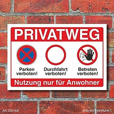 Cartel Privado vía Prohibido entrar durchfahrt estacionas ...