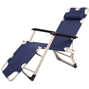 ZOCY Folding Lounge Chairs Reclining Beach Outdoor Chaise Lounge Chair  Indoor (ZC01)
