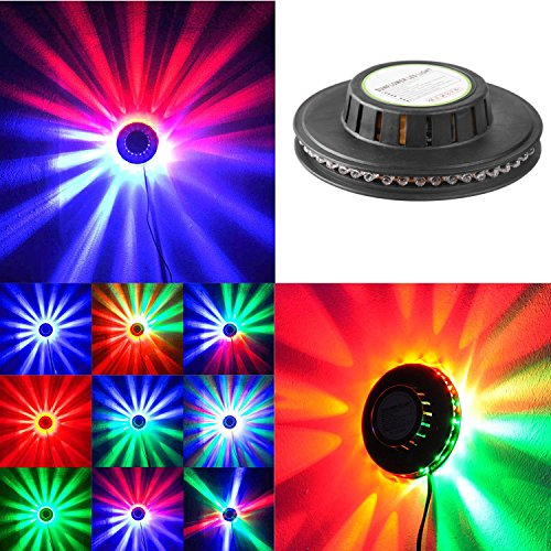 Ingleby RGB Led Party Light Auto Rotating Sunflower Stage Lighting For KTV Bar Wedding DJ Show Sound Activated - Red Dj Lighting