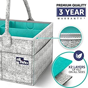 Baby Diaper Caddy Organizer – Portable Large diaper...