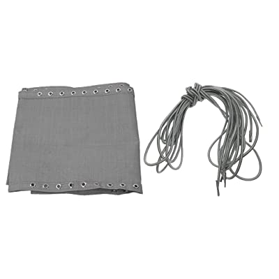 homozy Fabric Mesh Cloth Replacement with Cords for Fishing Sling Chairs Gray : Garden & Outdoor