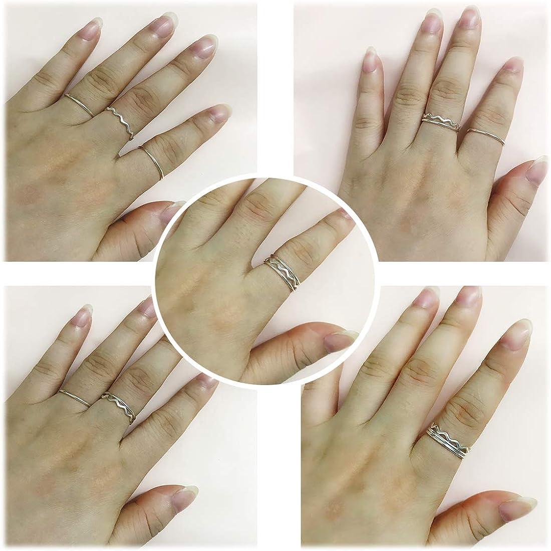 Size-5.75 1//10 cttw, 3 Diamond Promise Ring in 14K White Gold G-H,I2-I3