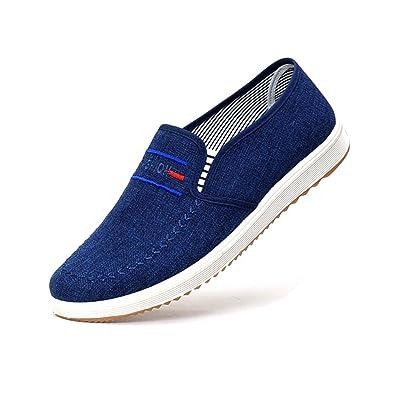 Amazon.com: meckior de los hombres zapatos de lona Slip-On ...
