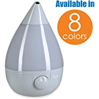 Crane Ultrasonic Cool Mist Humidifier, Filter-Free, 1 Gallon, for Home Bedroom Baby Nursery and Office, Grey